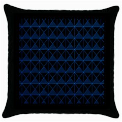 Colored Line Light Triangle Plaid Blue Black Throw Pillow Case (black) by Alisyart