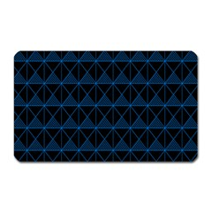 Colored Line Light Triangle Plaid Blue Black Magnet (rectangular) by Alisyart
