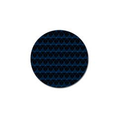 Colored Line Light Triangle Plaid Blue Black Golf Ball Marker by Alisyart