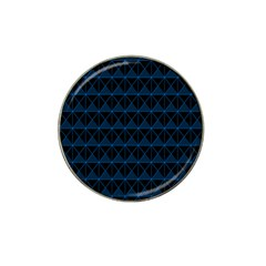 Colored Line Light Triangle Plaid Blue Black Hat Clip Ball Marker (4 Pack) by Alisyart