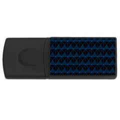 Colored Line Light Triangle Plaid Blue Black Usb Flash Drive Rectangular (4 Gb) by Alisyart