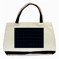 Colored Line Light Triangle Plaid Blue Black Basic Tote Bag (two Sides) by Alisyart