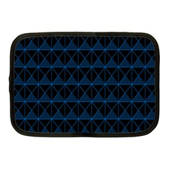 Colored Line Light Triangle Plaid Blue Black Netbook Case (medium)  by Alisyart