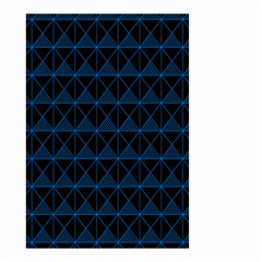 Colored Line Light Triangle Plaid Blue Black Small Garden Flag (two Sides) by Alisyart