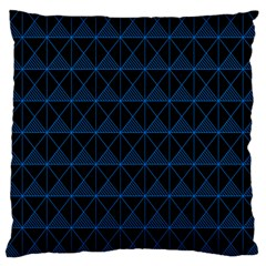 Colored Line Light Triangle Plaid Blue Black Large Cushion Case (two Sides) by Alisyart