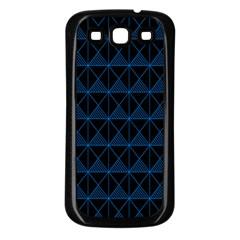 Colored Line Light Triangle Plaid Blue Black Samsung Galaxy S3 Back Case (black) by Alisyart