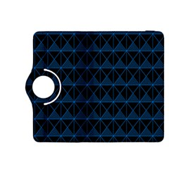 Colored Line Light Triangle Plaid Blue Black Kindle Fire Hdx 8 9  Flip 360 Case by Alisyart