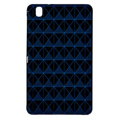 Colored Line Light Triangle Plaid Blue Black Samsung Galaxy Tab Pro 8 4 Hardshell Case by Alisyart