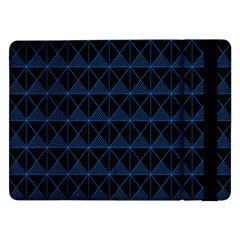 Colored Line Light Triangle Plaid Blue Black Samsung Galaxy Tab Pro 12 2  Flip Case by Alisyart