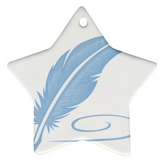 Feather Pen Blue Light Ornament (star) by Alisyart