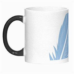 Feather Pen Blue Light Morph Mugs by Alisyart
