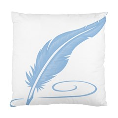 Feather Pen Blue Light Standard Cushion Case (two Sides) by Alisyart