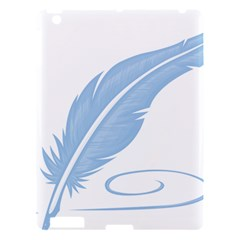 Feather Pen Blue Light Apple Ipad 3/4 Hardshell Case by Alisyart