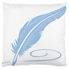 Feather Pen Blue Light Large Cushion Case (two Sides) by Alisyart