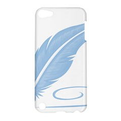 Feather Pen Blue Light Apple iPod Touch 5 Hardshell Case by Alisyart
