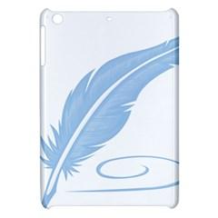 Feather Pen Blue Light Apple Ipad Mini Hardshell Case by Alisyart