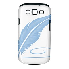 Feather Pen Blue Light Samsung Galaxy S Iii Classic Hardshell Case (pc+silicone) by Alisyart