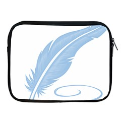 Feather Pen Blue Light Apple Ipad 2/3/4 Zipper Cases by Alisyart