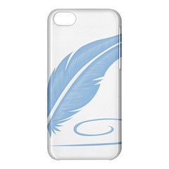 Feather Pen Blue Light Apple Iphone 5c Hardshell Case by Alisyart