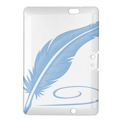Feather Pen Blue Light Kindle Fire Hdx 8 9  Hardshell Case by Alisyart