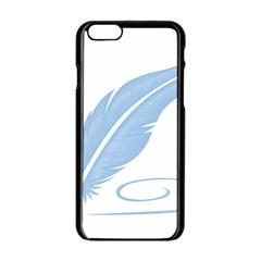 Feather Pen Blue Light Apple Iphone 6/6s Black Enamel Case by Alisyart