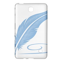 Feather Pen Blue Light Samsung Galaxy Tab 4 (8 ) Hardshell Case  by Alisyart