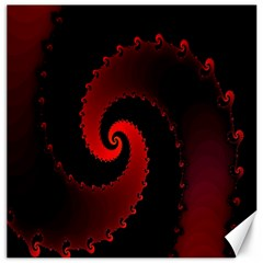 Red Fractal Spiral Canvas 20  X 20   by Simbadda