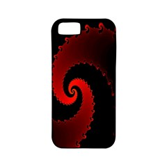 Red Fractal Spiral Apple Iphone 5 Classic Hardshell Case (pc+silicone) by Simbadda