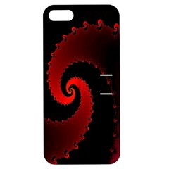 Red Fractal Spiral Apple Iphone 5 Hardshell Case With Stand by Simbadda