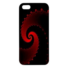 Red Fractal Spiral Iphone 5s/ Se Premium Hardshell Case by Simbadda