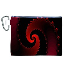 Red Fractal Spiral Canvas Cosmetic Bag (xl) by Simbadda