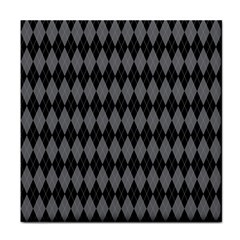 Chevron Wave Line Grey Black Triangle Tile Coasters by Alisyart