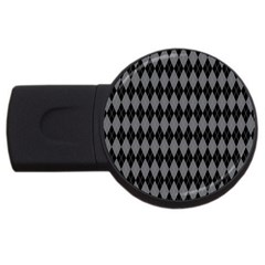 Chevron Wave Line Grey Black Triangle Usb Flash Drive Round (4 Gb) by Alisyart
