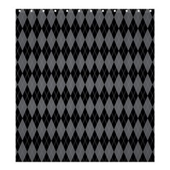 Chevron Wave Line Grey Black Triangle Shower Curtain 66  X 72  (large)  by Alisyart