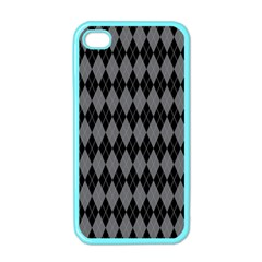 Chevron Wave Line Grey Black Triangle Apple Iphone 4 Case (color) by Alisyart
