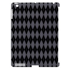 Chevron Wave Line Grey Black Triangle Apple Ipad 3/4 Hardshell Case (compatible With Smart Cover) by Alisyart