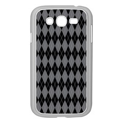 Chevron Wave Line Grey Black Triangle Samsung Galaxy Grand Duos I9082 Case (white) by Alisyart