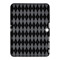 Chevron Wave Line Grey Black Triangle Samsung Galaxy Tab 4 (10 1 ) Hardshell Case  by Alisyart