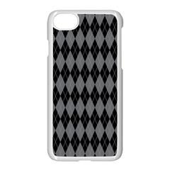 Chevron Wave Line Grey Black Triangle Apple Iphone 7 Seamless Case (white) by Alisyart