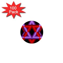 Star Of David 1  Mini Magnets (100 Pack)  by Simbadda