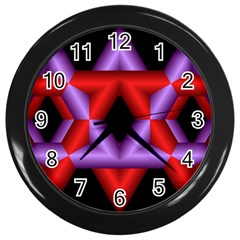 Star Of David Wall Clocks (black) by Simbadda
