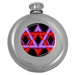 Star Of David Round Hip Flask (5 Oz) by Simbadda