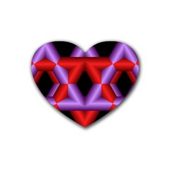 Star Of David Heart Coaster (4 Pack)  by Simbadda