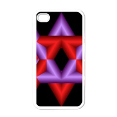 Star Of David Apple Iphone 4 Case (white) by Simbadda