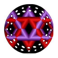 Star Of David Round Filigree Ornament (two Sides) by Simbadda