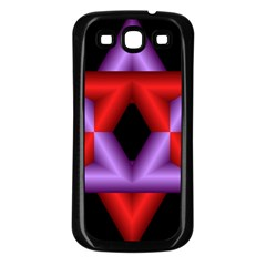 Star Of David Samsung Galaxy S3 Back Case (black) by Simbadda
