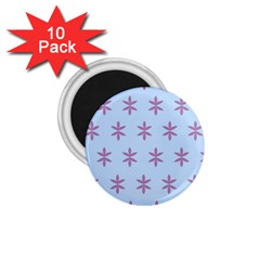 Flower Floral Different Colours Blue Purple 1 75  Magnets (10 Pack)  by Alisyart