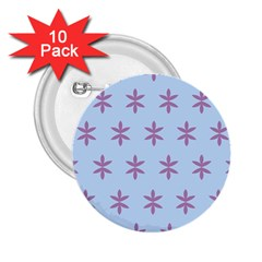 Flower Floral Different Colours Blue Purple 2 25  Buttons (10 Pack)  by Alisyart