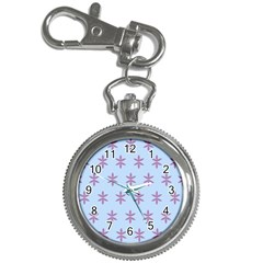Flower Floral Different Colours Blue Purple Key Chain Watches by Alisyart