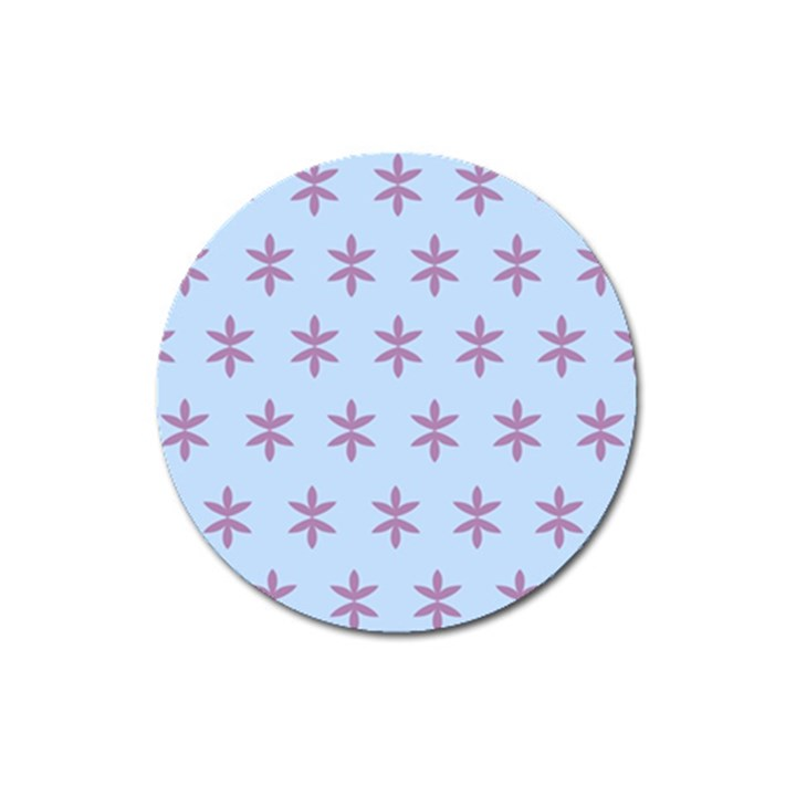 Flower Floral Different Colours Blue Purple Magnet 3  (Round)